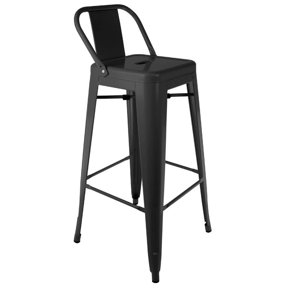 tolix with backrest stool. Black Bedroom Furniture Sets. Home Design Ideas