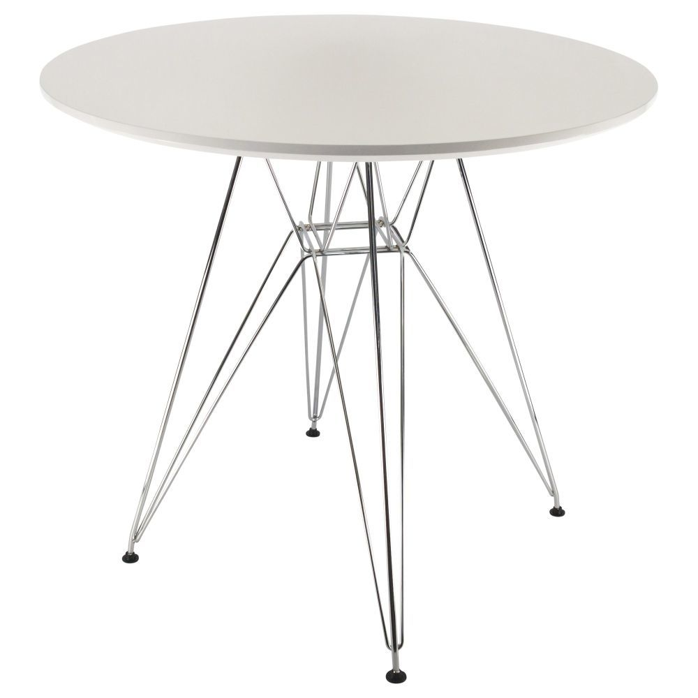 Eiffel dsr table with chaise dsr eiffel for Coussin pour chaise eames