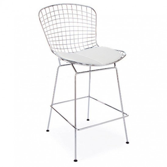 Bertoia Chrome Bar Stool