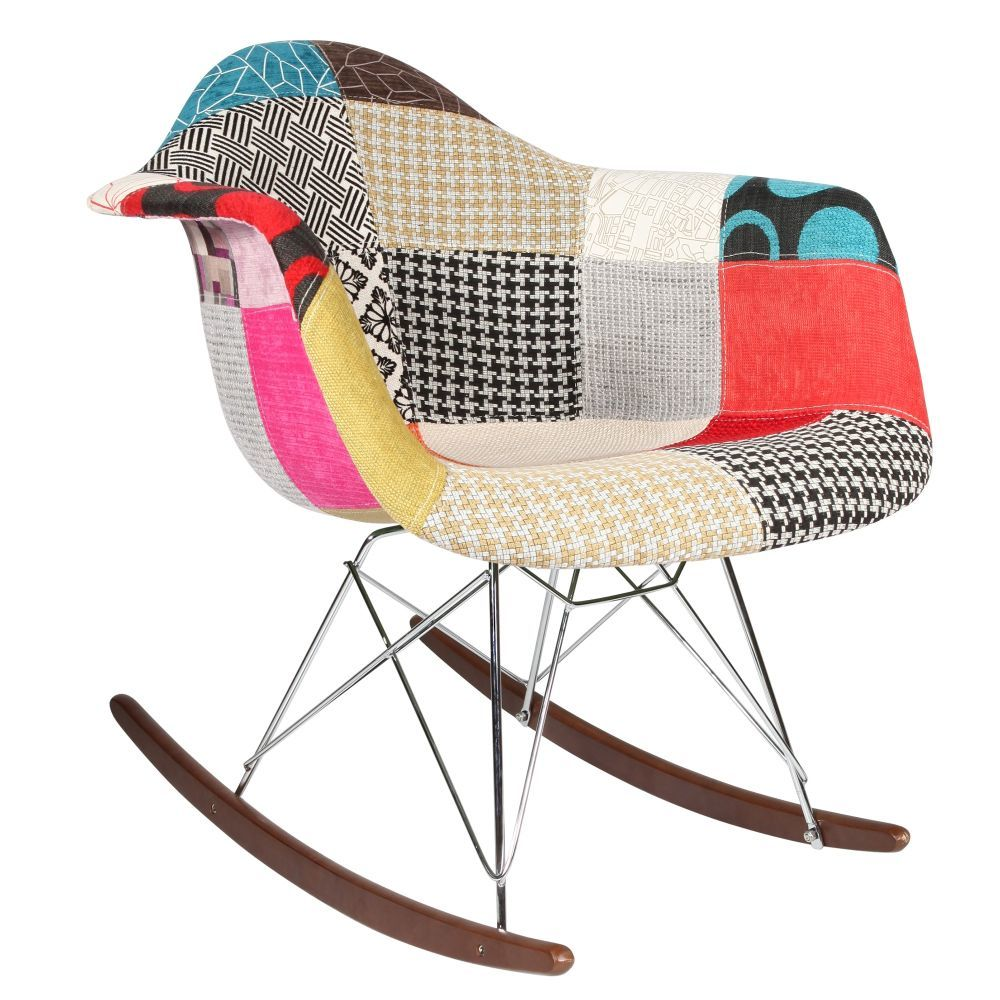Favori Chaise Rocking chair Patchwork Eames RAR KK44