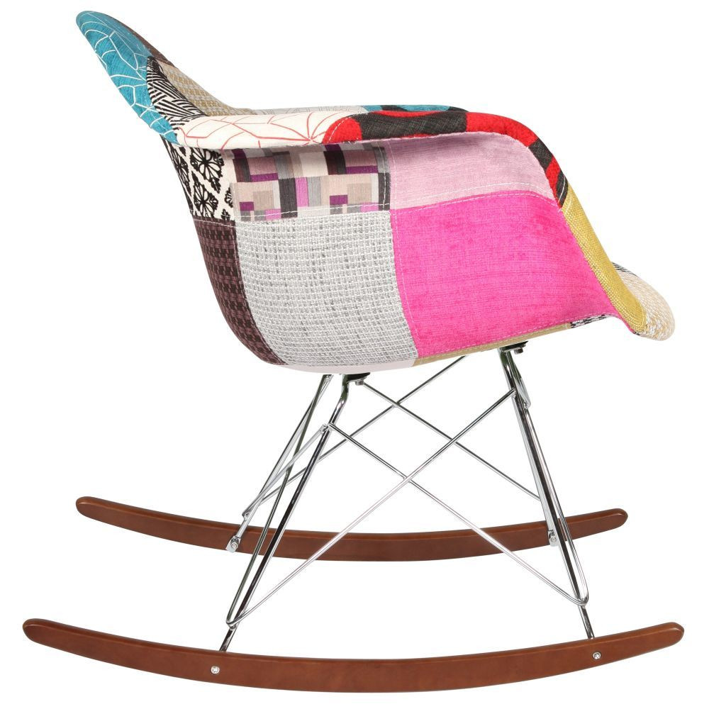 Chaise rocking chair patchwork eames rar for Chaises rar charles eames
