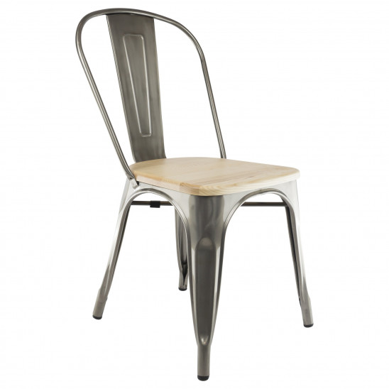 Tolix A chair Wooden Seat