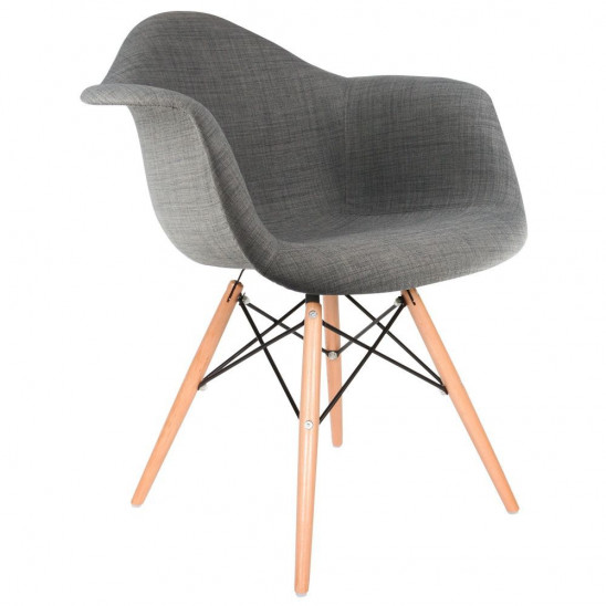 Eames Upholstered DAW Arm Chair