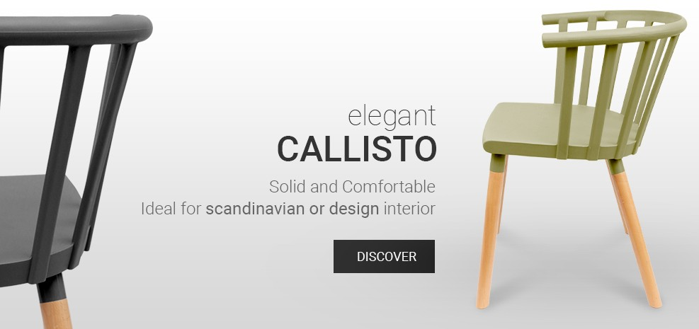 Scadinavian Wood Chair Callisto